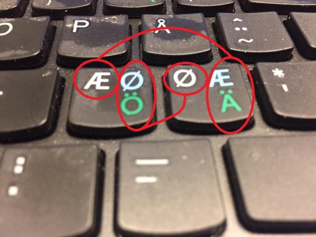 hvorfor Lenovo keyboard Ø og Æ