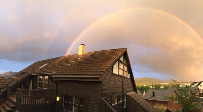 Dobbel regnbue på Hommersåk