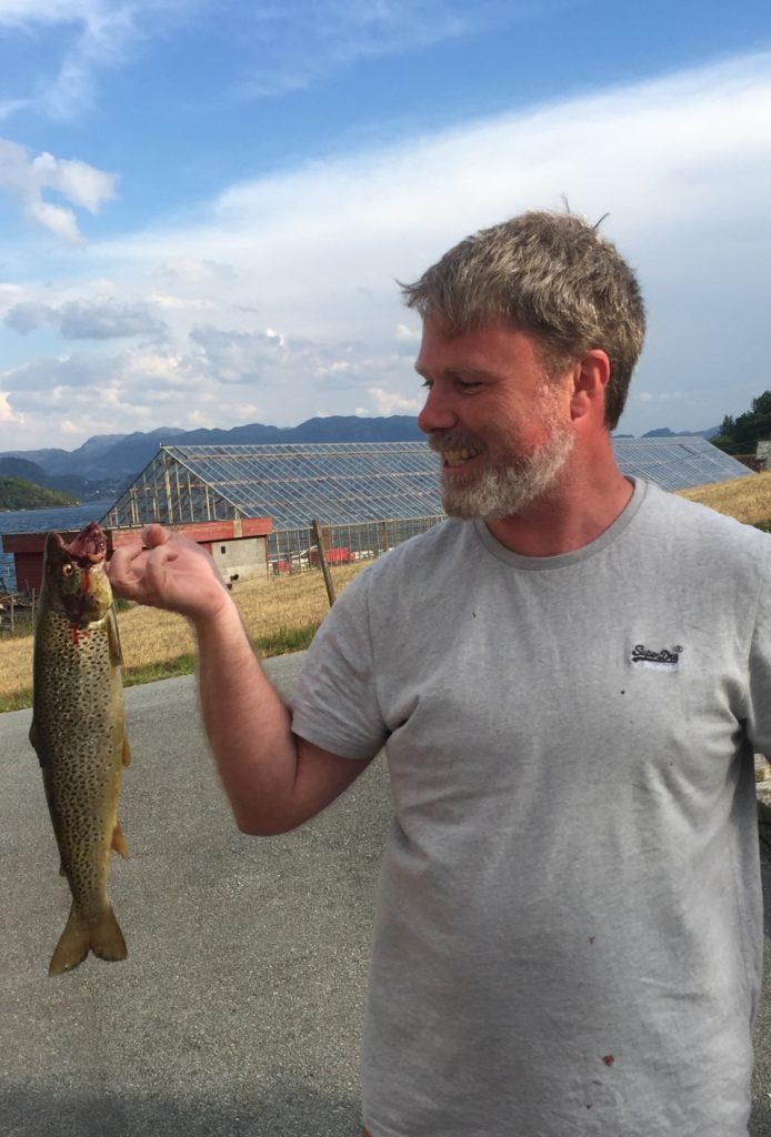Salmo trutta trutta Norway trout fishing Rogaland Ryfylke Vestlandet 在挪威钓鳟鱼