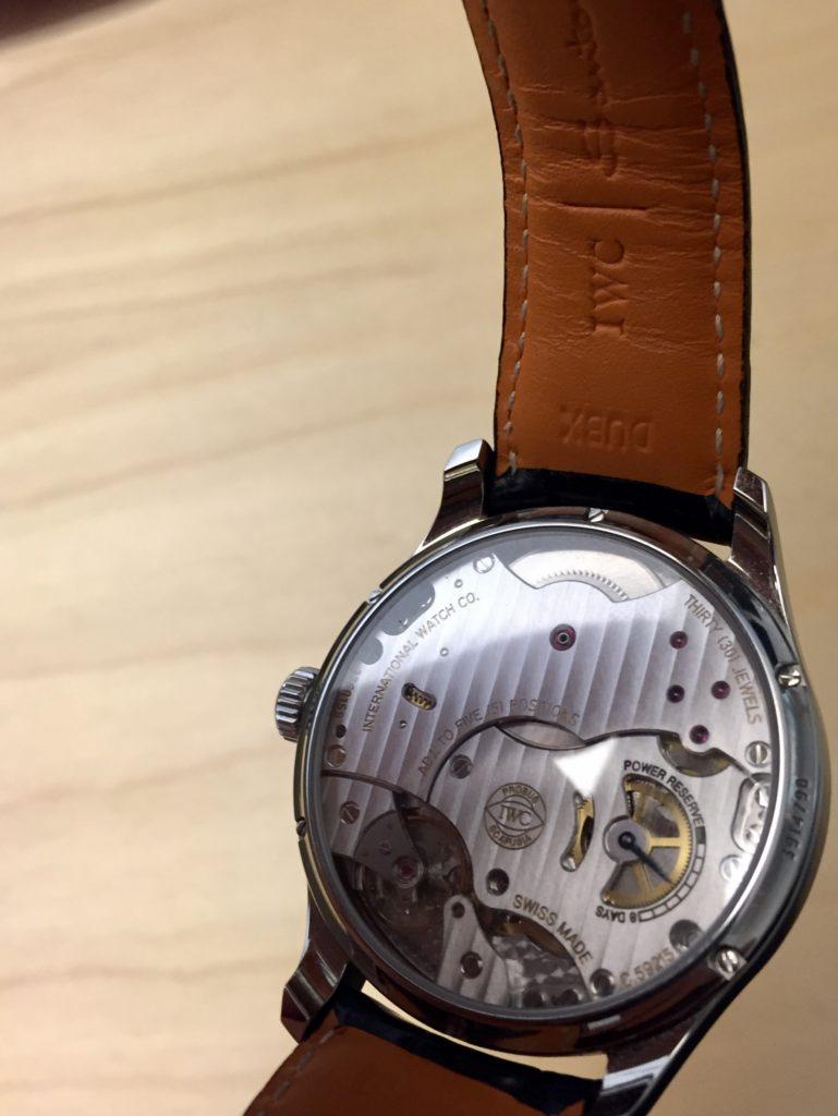 Caliber 59215 30 jewels manual mechanic watch back case backcase 510203 IWC