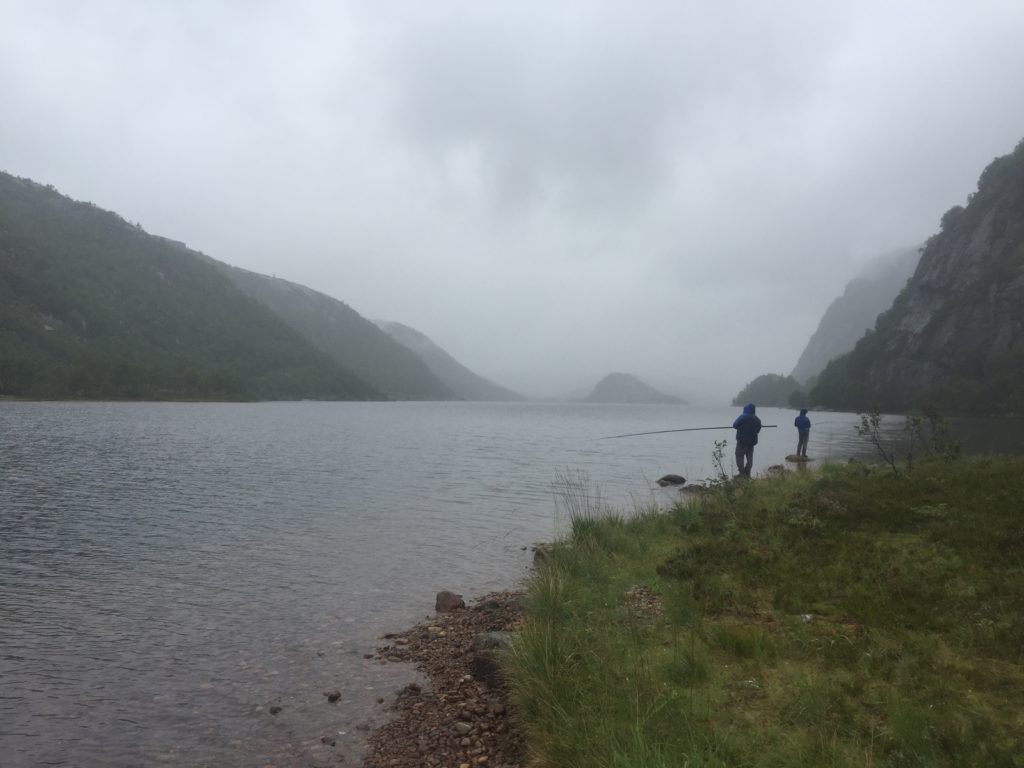 Fishing trout in Sirdal norway pstrąg wędkarski w Norwegii