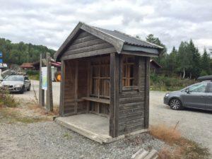 Busskur bussholdeplass leskur Sinnes Sirdal Rogaland