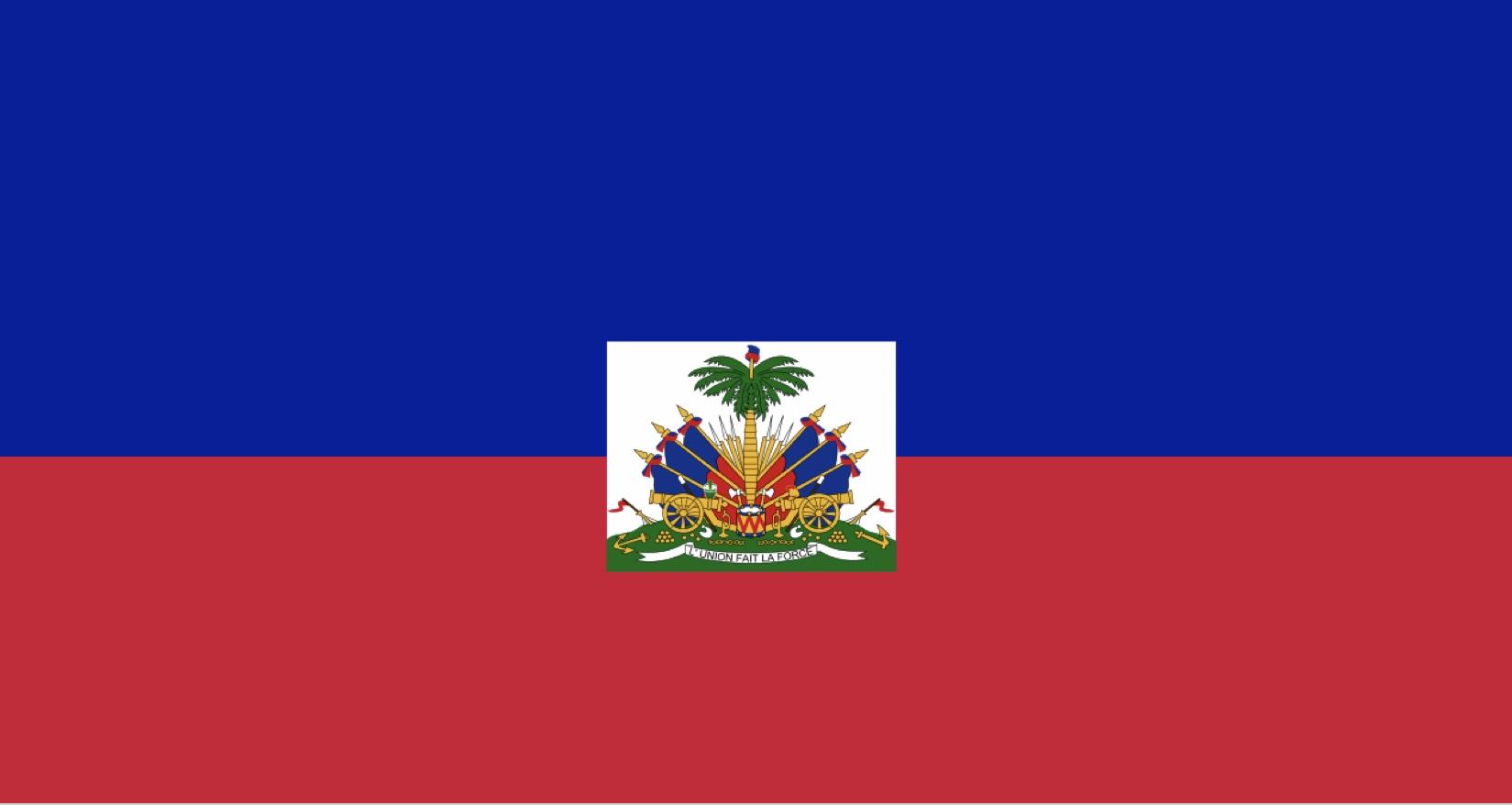Haiti sitt flagg med kanoner