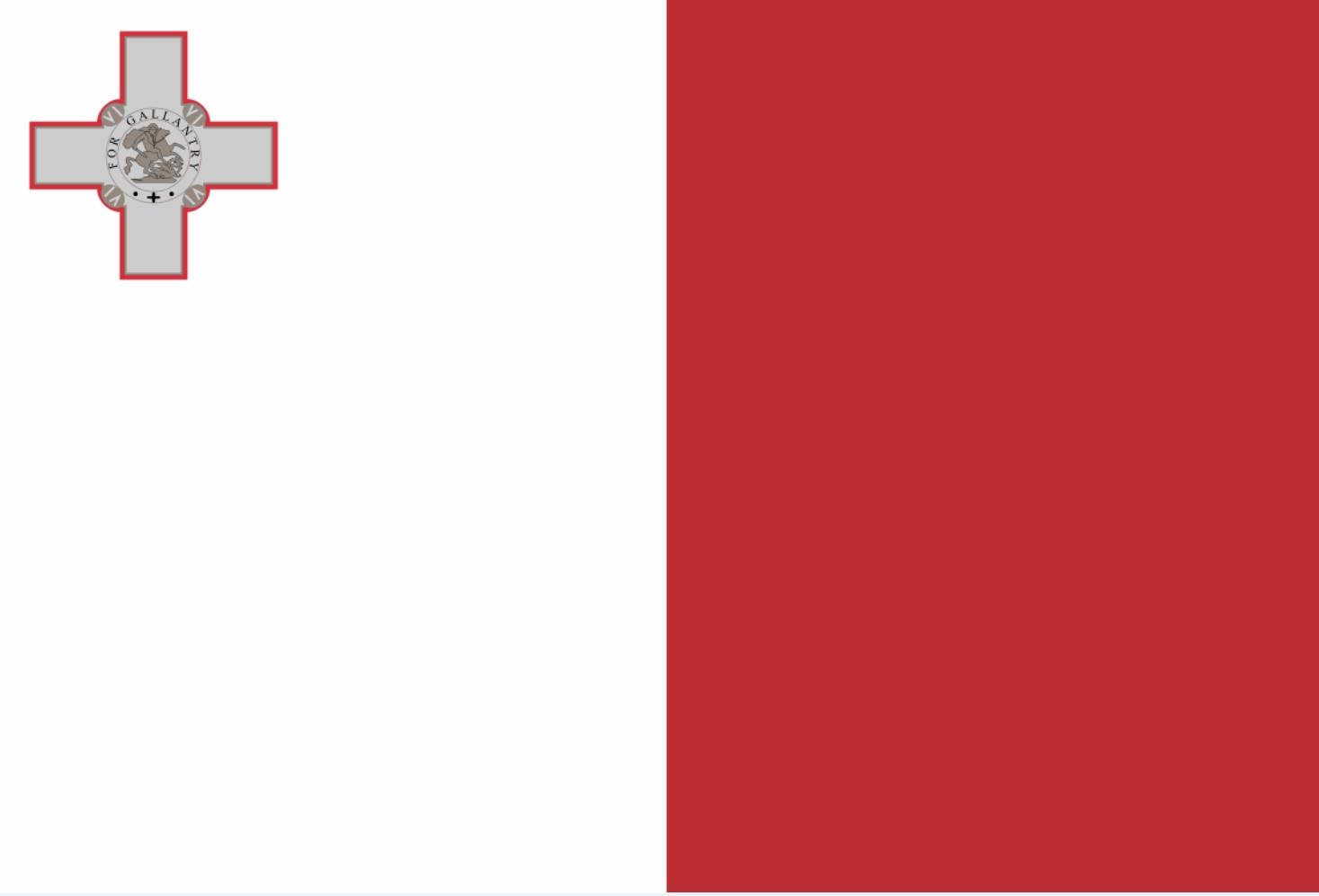Malta sitt flagg med sankt Georg