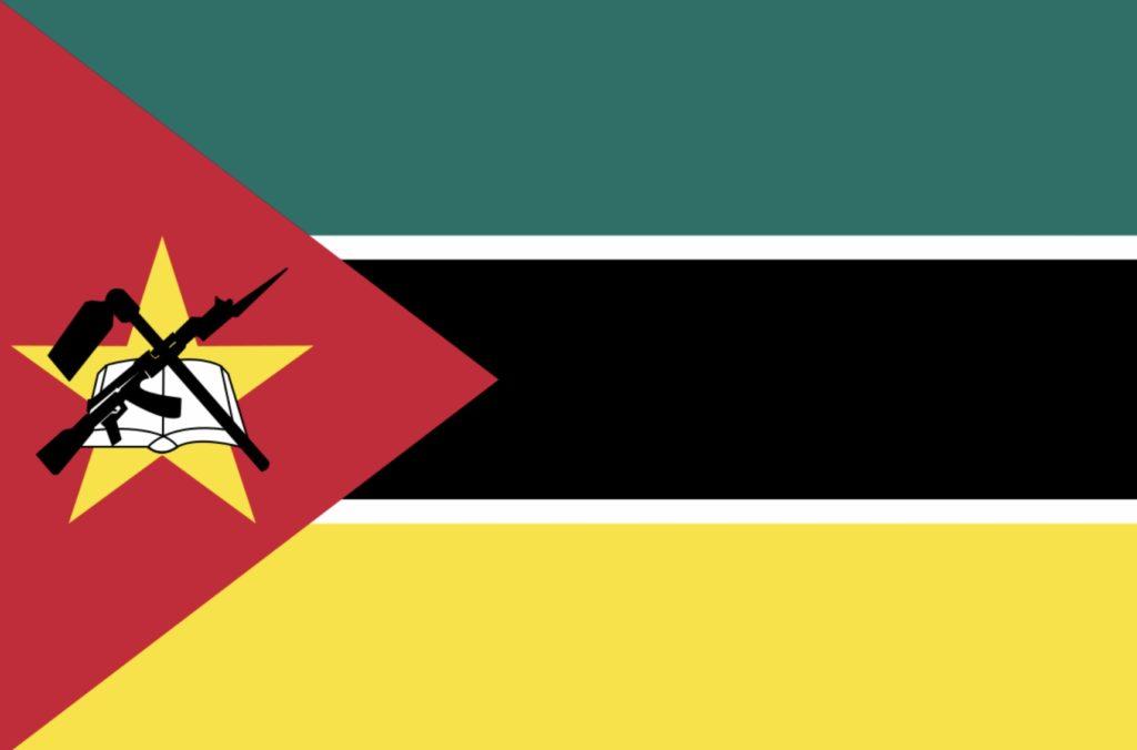 Våpen i flagg kalashnikov ak47 flag AK-47 Mosambik mosambique