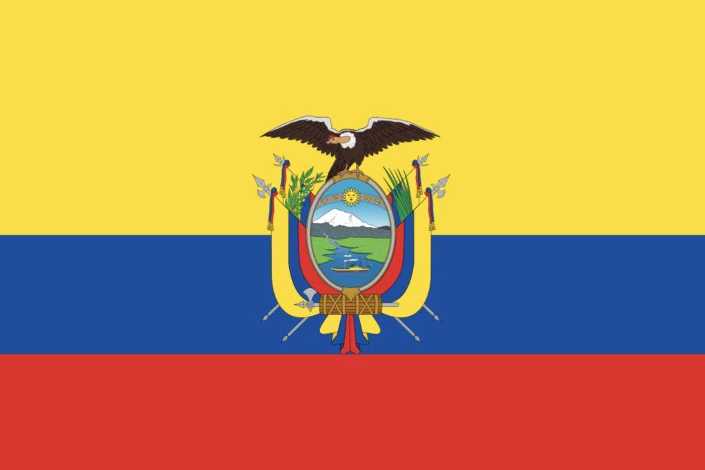 Ecuador ekuador flagg