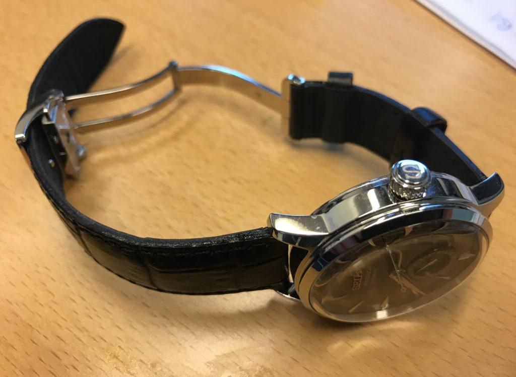 Seiko coctail time leather strap clasp on seiko skinn reim skinnrem klokkeremm