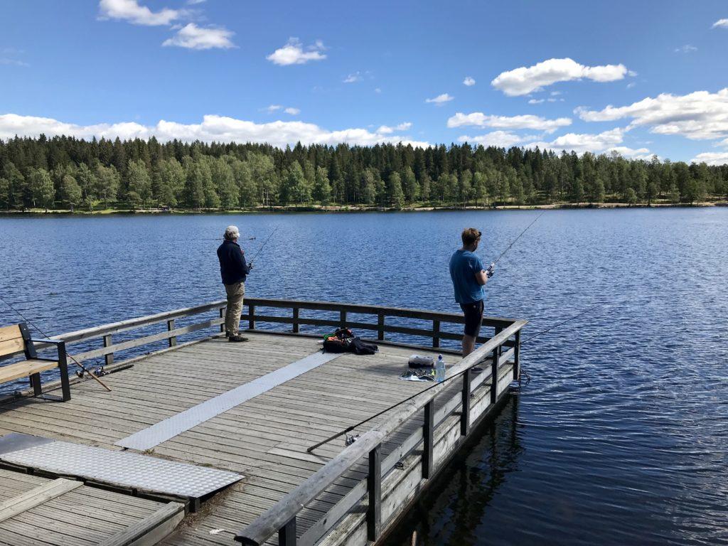 fiske i Sognsvann Oslo Nordmarka