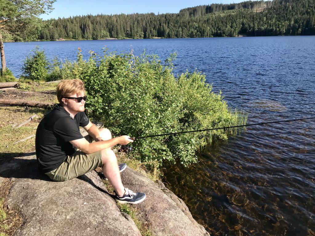 Ørret abbor Øyungen storholmen Maridalen fisketur Nordmarka fisk Oslo