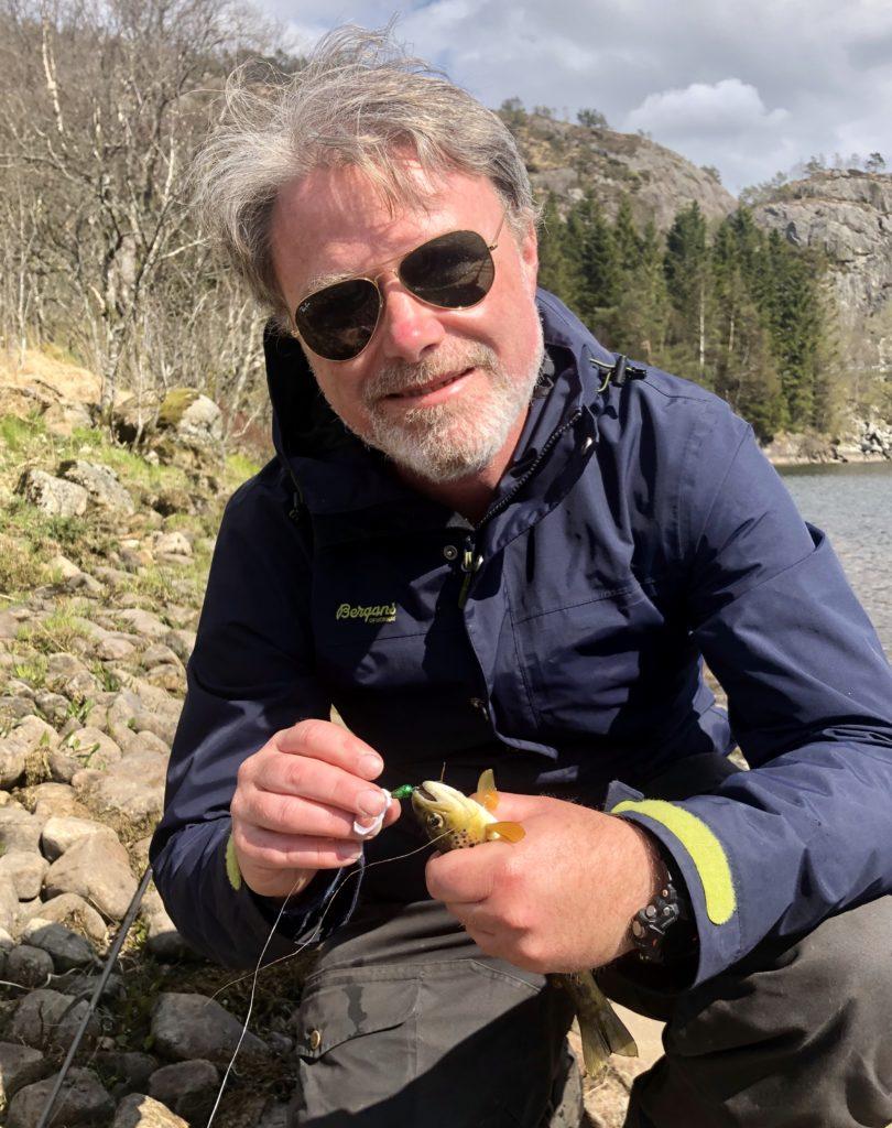 Fiske Ørret brunørret oslandsvatnet Mellomstrandsvatnet oslandsvannet
