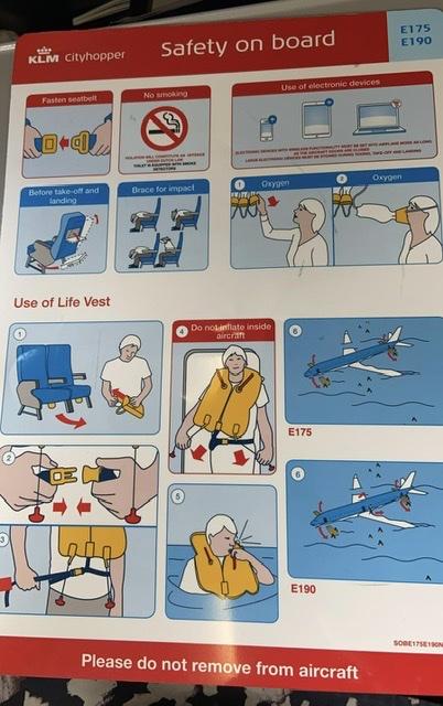 KLM citihopper Safety manual
