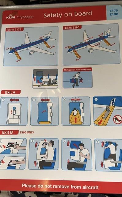KLM Cityhopper Safety onboard E175 E190